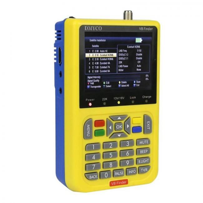 DMYCO V8 Finder DVB-S2 DVB-S FTA Digital Satellite SatFinder Meter HD  Satellite Finder Tool TFT LCD Sat Finder lnb Signal Meter - Sadoun Sales