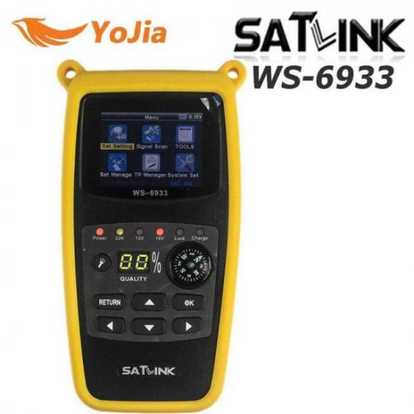 Satlink ws-6933 satellite finder dvb-s2 fta cku band meter ws 6933