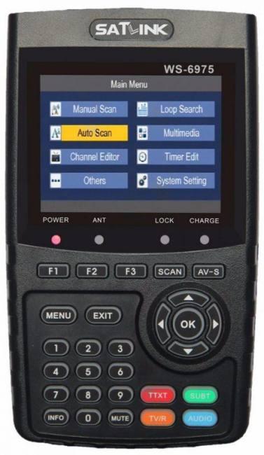 Satlink ws-6975 dvb-t2 digital satellite tv receiver satellite meter finder