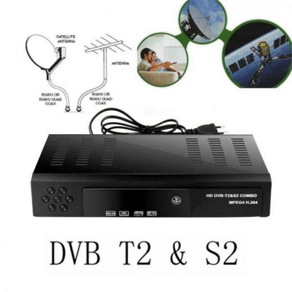 Free to air digital satellite receiver hd dvb t2+s2 tv tuner