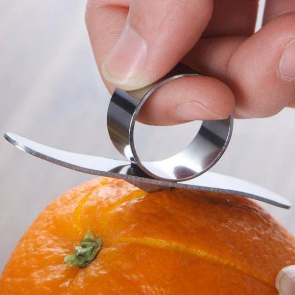 Stainless steel orange lemon citrus fruit peeler