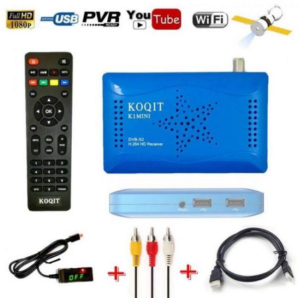 Koqit hd 1080p dvb-s2 satellite receiver with pvr function & iptv
