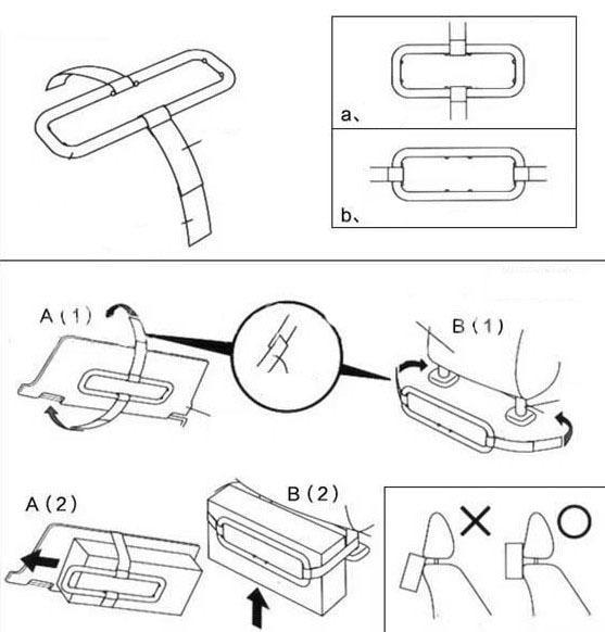 Car sun visor tissue paper box holder auto seat back accessories