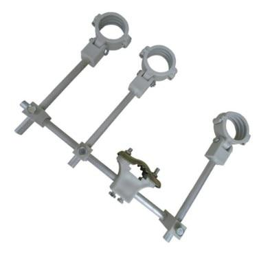Ku lnb bracket, lnb holder, holds up to 4 ku band lnb 4 satellite lnb on 1 dish