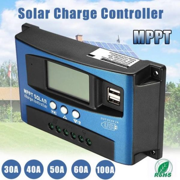 Controllers 30/40/50/60/100A Solar Battery Charge Controller Regulator Dual USB LCD Display 12V 24V cleanenergy