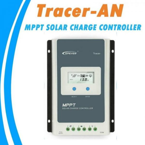 Epever mppt 40a/30a/20a/10a solar charge controller black-light lcd solar regulator for 12v 24v lead acid lithium-ion batteries