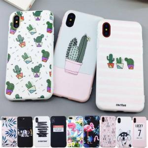 FREE SHIPPING Candy Color Soft TPU Rubber Silicon Leaf Print Phone Cases for iPhone X iPhone7 iPhone8 Plus iPhoneXR iPhoneXS Max Candy