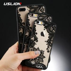 FREE SHIPPING Stylish Lace Flower Phone Cases For Apple iPhone Models Hard PC Cases Back Cover Apple