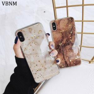 FREE SHIPPING Soft TPU Cover Case Luxury Gold Marble Phone Cases For iPhone X XS Max XR Case