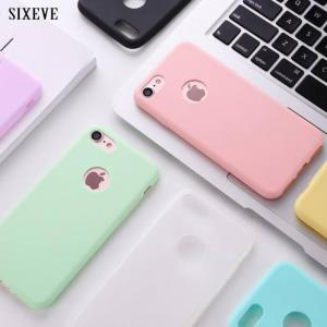 FREE SHIPPING Original Soft Rubber Silicone Cases For iPhone Models Cute Candy Anti-knock Cover AntiKnock
