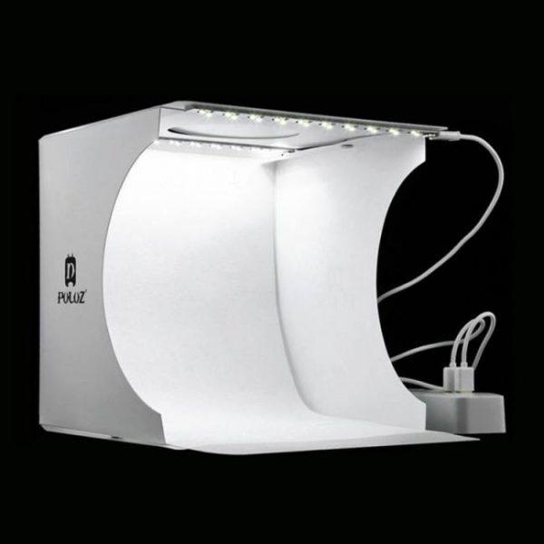 Cameras Mini Folding Lightbox Photography Photo Studio Softbox 2 Panel LED Light Soft Box Photo Background Kit Light box for DSLR Camera discount