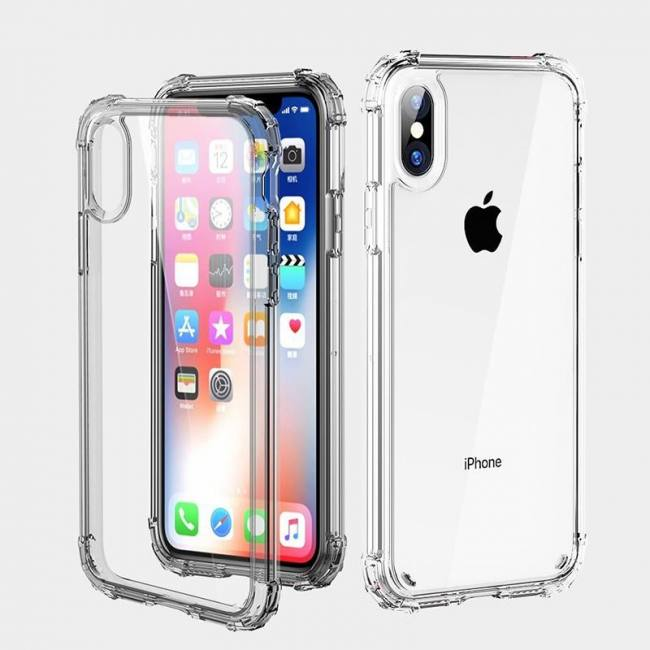 Luxury shockproof transparent silicone phone cases for iphone models protection back cover