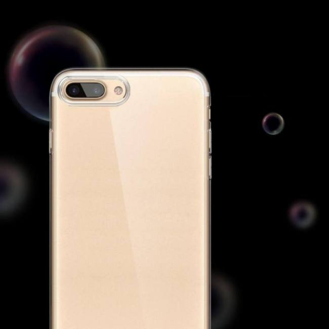 Soft transparent silicone back cover phone cases for iphone 7 8 x xs models