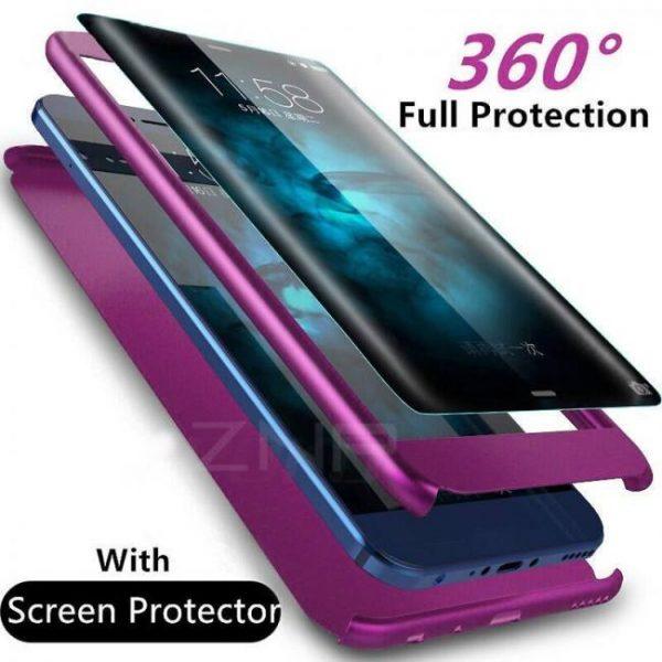 Modern luxury 360 degree full cover phone cases for samsung models