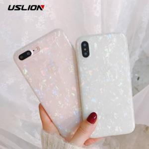 FREE SHIPPING Soft TPU Silicone Cover Dream Shell Pattern Glitter Phone Case For iPhone Models Case