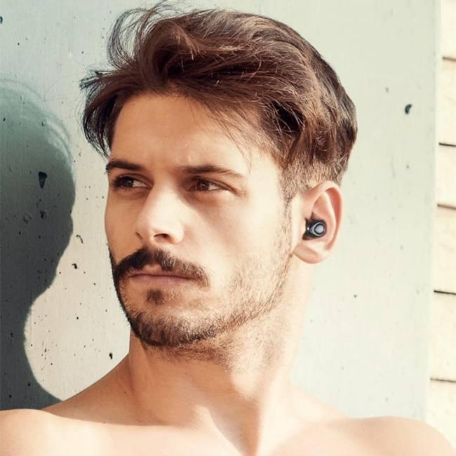 Tws wireless bluetooth earphones headsets x18 cordless headphones handsfree earbuds  mic