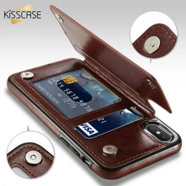 FREE SHIPPING Retro PU Leather Case with Card Slot Holder For Samsung and iPhone Models Card