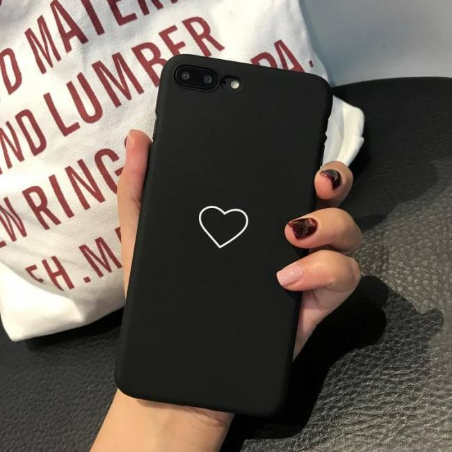 Cases for iphone 7 iphone xs max iphonexr iphonex iphone8 plus heart love black pink case