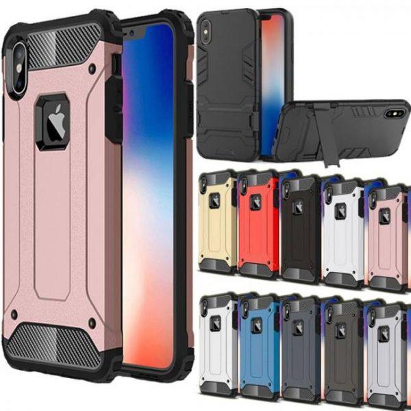 FREE SHIPPING Shockproof Hybrid Armor Phone Back Case For iphoneX iphoneXR iphoneXS Max iphone7 iphone8 Plus 5