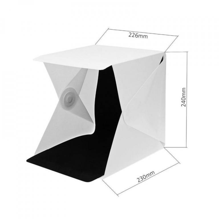 24cm / 9″ mini folding lightbox photography studio softbox led light soft box camera photo background box lighting tent kit