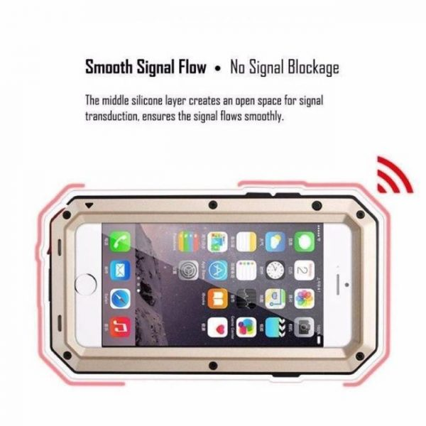 FREE SHIPPING Heavy Duty Protection Metal Aluminum Shockproof Armor Phone Cases + Glass Screen Film For iPhone7 iPhone6 iPhone6sPlus Aluminum