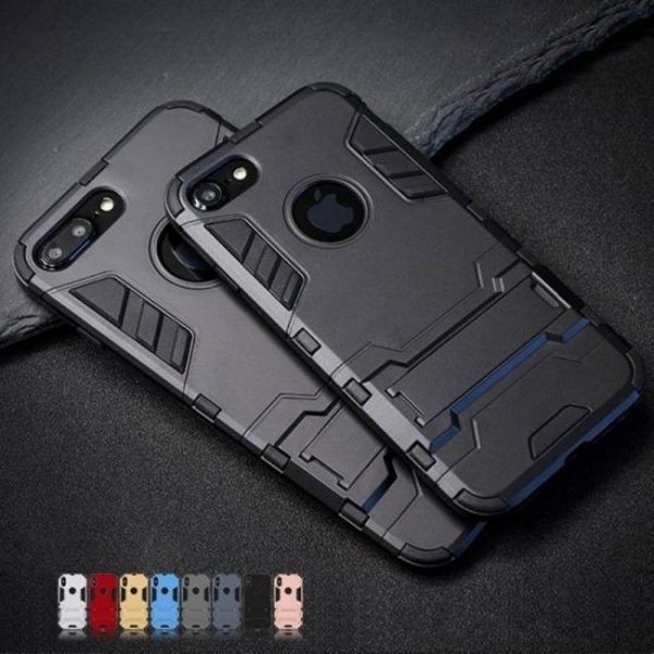 FREE SHIPPING Luxury Stand Armor Phone Holder Case For iPhone7 iPhone8 iPhoneX iPhoneXS Hybrid TPU+Hard armor