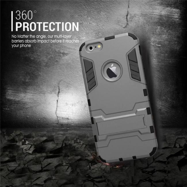 Luxury stand armor phone holder case for iphone7 iphone8 iphonex iphonexs hybrid tpu+hard