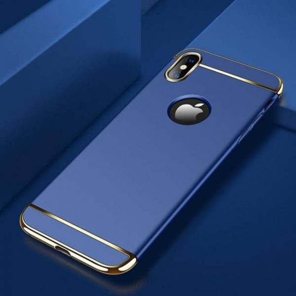 FREE SHIPPING Electroplated Armor Degree Full Protect 3 IN 1 Phone Cover Case For iPhoneX 1