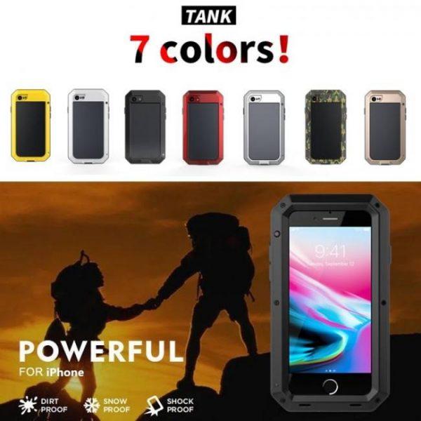 FREE SHIPPING Luxury Armor Metal Aluminum Phone Case for iPhone XS iPhoneMAX iPhoneXR iPhoneX iPhone7 Full Body Cover Shockproof Aluminum