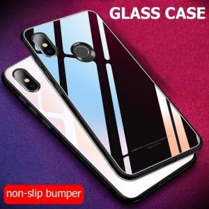 FREE SHIPPING Case Luxury Shockproof Hard Tempered Glass Back Cover For Xiaomi Redmi Note 6 Pro 6