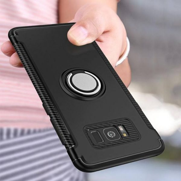 FREE SHIPPING Shockproof Armor Case For Samsung GalaxyNote8 SamsungS8Plus SamsungS7 SamsungS6edge Car Ring Holder armor
