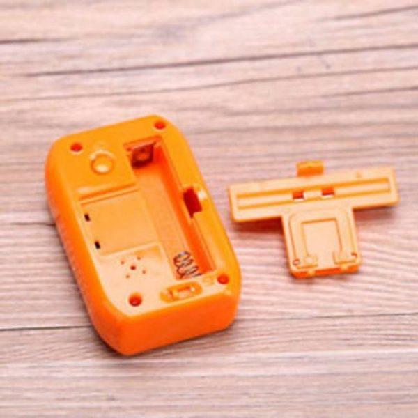 Pocket sized digital electronic travel alarm clock lcd