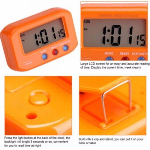 Bedroom Pocket Sized Digital Electronic Travel Alarm Clock LCD Alarm