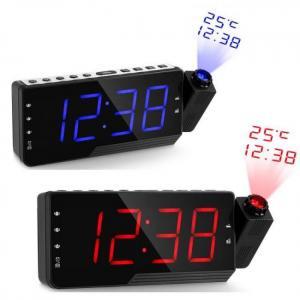 Clock Digital Radio Alarm Clock Snooze Timer Temperature LED Display USB Charge Cable 110