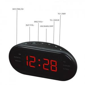 Am/fm led radio electronic desktop alarm digital table clocks