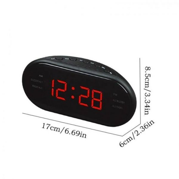 Am/fm led radio electronic desktop alarm digital table clocks