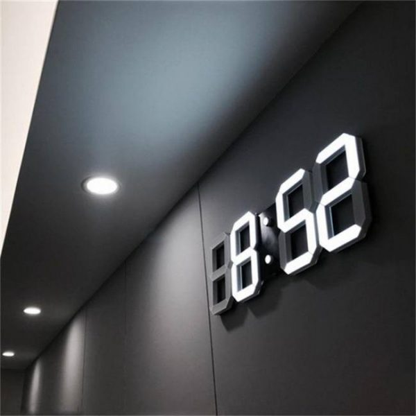 Clock Modern 3D LED Alarm Clocks Display Digital 3D