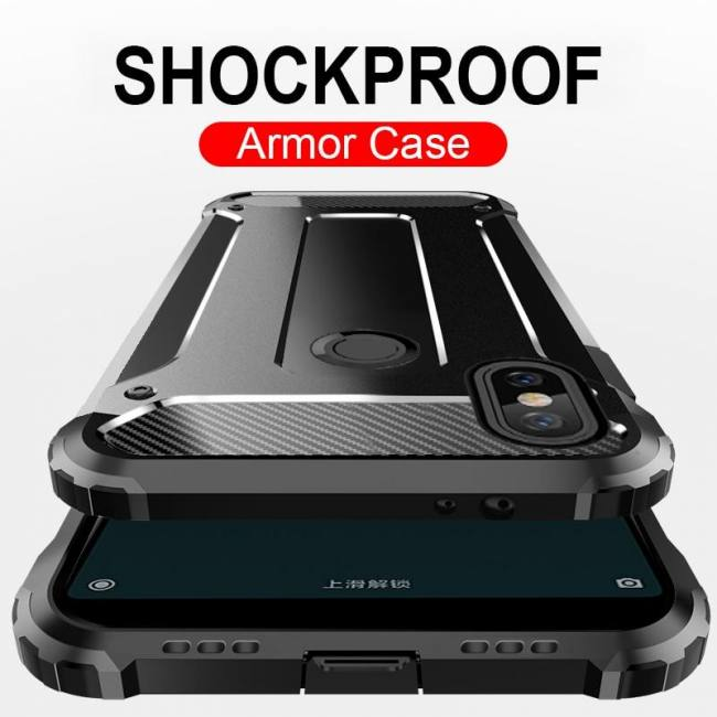 buy popular e7436 dd9a0 Luxury Armor Shockproof Case For Xiaomi Redmi 5A 6A Note 5 Note6 Pro