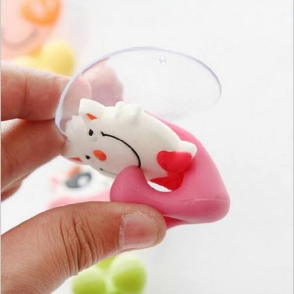 Bath Cartoon Cute Animal Shaped Toothbrush Holder Suction Hooks For Bathroom Accessories Accessories