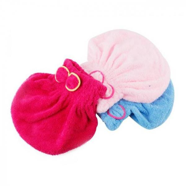 FREE SHIPPING 1PC Home Textile Microfiber Solid Hair Turban Quickly Dry Hat Wrapped Towel Bath 1Pc