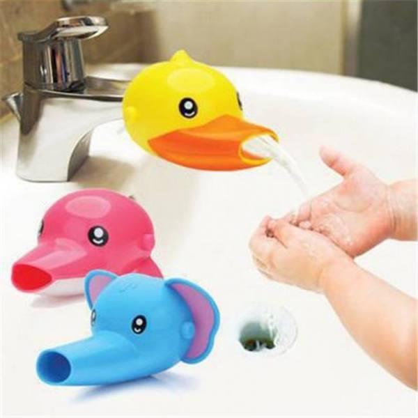 Hand washing cartoon bathroom sink elephant dolphin faucet extender