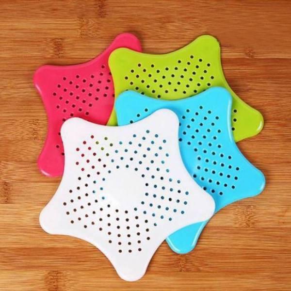 Shape of the pentagram filter strainer bathroom sink kitchen accessory anti-blocking hair stopper