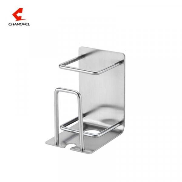 Bath Creative 304 Stainless Steel Mug Toothbrush Toothpaste Holder On The Wall 304 Stainless Steel