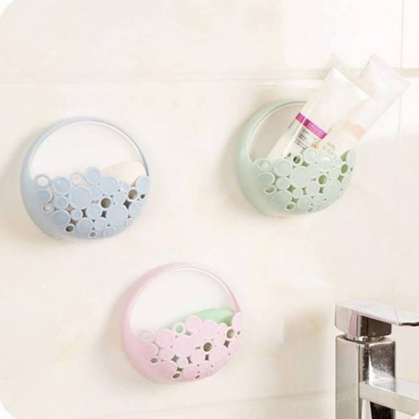 Bath Kitchen and Bathroom Accessories Holder Wall Mounted Suction Organizer bathroom