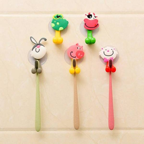 High quality cartoon toothbrush holder suction hooks bathroom accessories eco-friendly