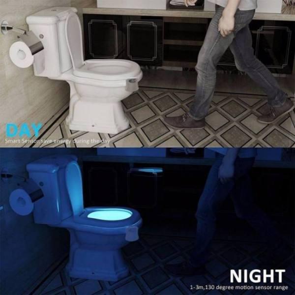 Bath Toilet Seat LED Light Human Automatic Lamp Motion Sensor Activated