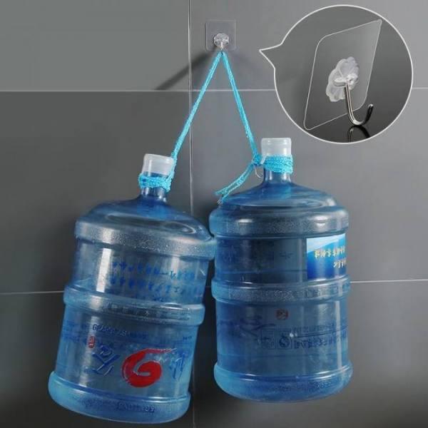 Bath 4Pcs Bearing 3KGS Transparent Strong Adhesive Wall Hook Adhesive