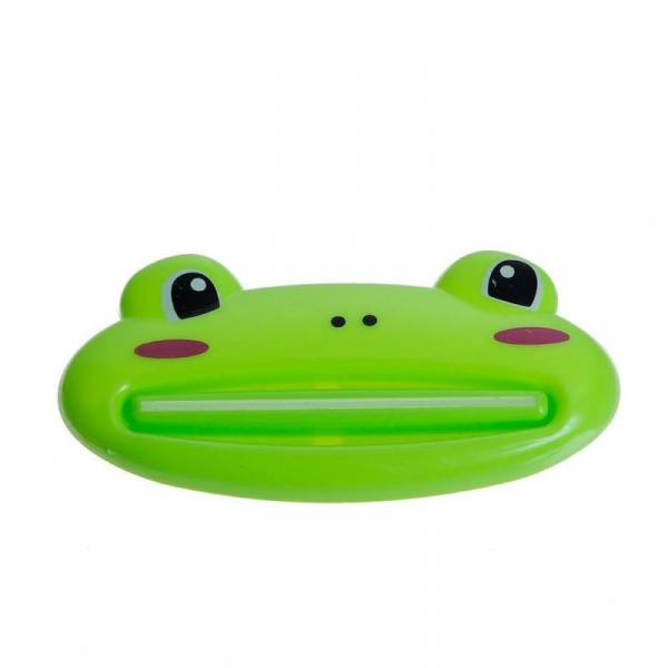Plastic cartoon dispenser cleanser toothpaste squeezer bathroom accessories piggy / frog / bear / panda