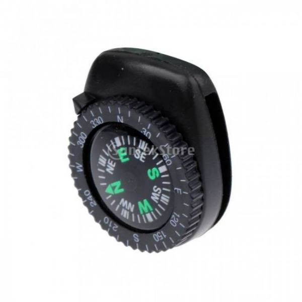Protable mini precision watch band clip-on navigation wrist compass for survival camping hiking