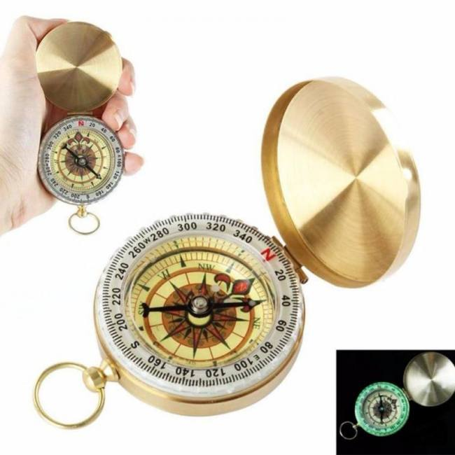 Military Copper Compass Glow in The Dark Camping Hiking Outdoor Survival Gear UK